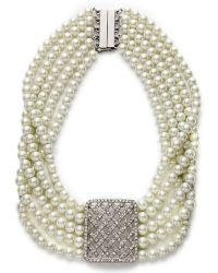 Lauren by Ralph Lauren High Society Five Row Basket Weave Necklace - Lyst