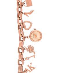 Anne Klein - Womens Rose Gold Tone Charm Bracelet 10 - Lyst