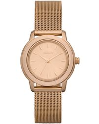 DKNY Womens Rose Gold Ion Plated Stainless Steel Mesh Bracelet 28mm - Lyst