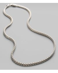 John Hardy Classic Chain Sterling Silver Extra-Small Necklace/18 silver - Lyst
