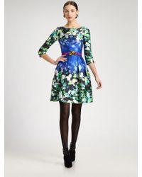 Oscar de la Renta Printed Dress multicolor - Lyst