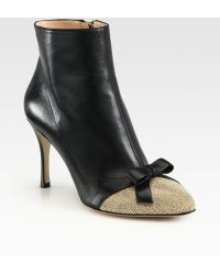 Valentino Studded Suede and Leather Ankle Boots - Lyst