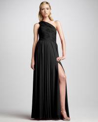 Halston Heritage One-shoulder Gown Black - Lyst