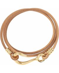 Giles & Brother - 10karat Goldplated and Leather Wrap Bracelet - Lyst