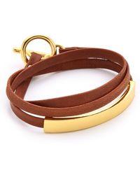Gorjana - Graham Leather Triple Wrap Bracelet - Lyst