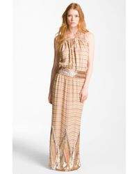 Haute Hippie Maggie May Embellished Silk Gown - Lyst