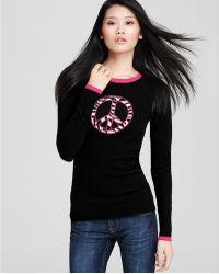 Ash - Quotation Autumn Cashmere Zebra Peace Sign Sweater - Lyst