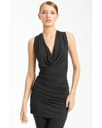 Donna Karan New York Collection Ruched Jersey Tunic - Lyst