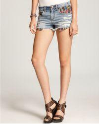 Free People Denim Shorts Baja Ripped - Lyst