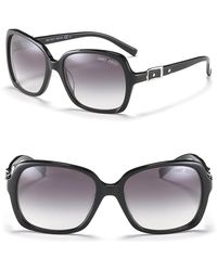Jimmy Choo Oversized Sunglasses With Buckle - Lyst