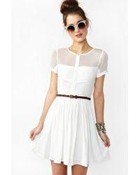 Nasty Gal Light Wave Dress white - Lyst