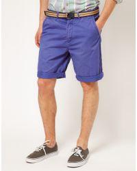Scotch & Soda Scotch Soda Cotton Twill Chino Shorts - Lyst