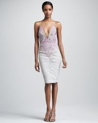 Julian Joyce By Mandalay - Plunging Bicolor Dress - Lyst