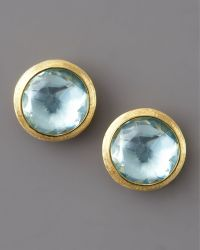 Marco Bicego Jaipur Topaz Stud Earrings blue - Lyst