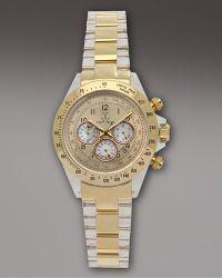 Toy Watch - Chronograph Heavy Metal Watch, Golden - Lyst
