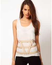 Asos Asos 3 Strap Harness Belt - Lyst