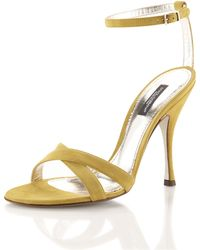 D&G Strappy Suede Sandal - Lyst