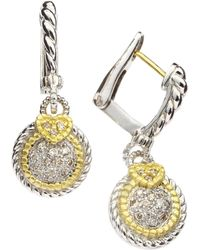 Judith Ripka - Small Pave Circle Earrings - Lyst