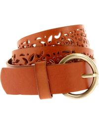 Oasis Oasis Cutwork Leather Belt