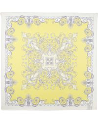 Versace Foulard Square Scarf Yellow - Lyst