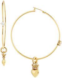 Juicy Couture - Royal Heart Hoop Earrings - Lyst