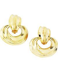 Kenneth Jay Lane Oversized Hoop Earrings - Lyst