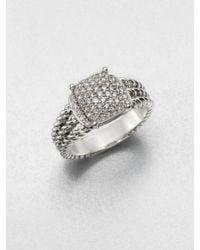 David Yurman Sterling Silver Diamond Ring - Lyst