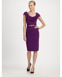 Donna Karan New York Cowl Dress - Lyst