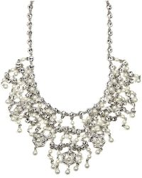 Givenchy Glass Pearl and Crystal Bridal Necklace - Lyst