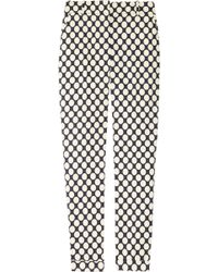 J.Crew Café Polkadot Stretch Cotton Capri Pants brown - Lyst