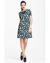 Marni Edition Leaf Print Poplin Dress - Lyst