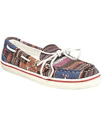 Steve Madden Nautical Boat Shoes - Lyst