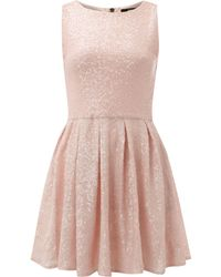 TFNC All Over Fit and Flare Sequin Dress beige - Lyst