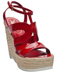 Saint Laurent Espadrille Wedges - Lyst