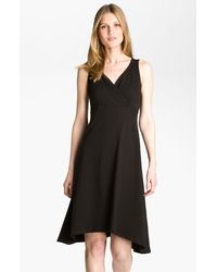 Eileen Fisher Surplice Vneck Jersey Dress - Lyst