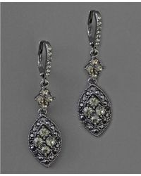 Givenchy Black Crystal Drop Earrings - Lyst