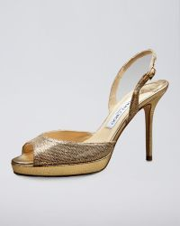 Jimmy Choo Glitter Sandal - Lyst