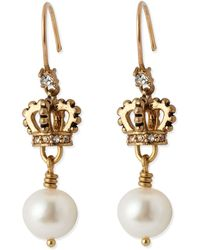 Juicy Couture - Crown Pearl Drop - Lyst