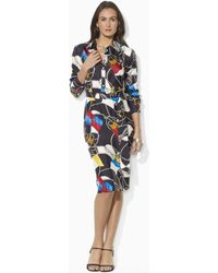 Lauren by Ralph Lauren Long Sleeved Shirtdress - Lyst
