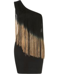 Topshop One Shoulder Fringe Dress. - Lyst
