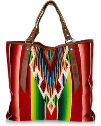 Totem Salvaged - Cotton And Leather Tote - Lyst