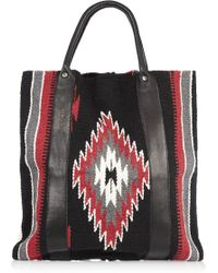 Totem Salvaged - Leather And Cotton Tote - Lyst