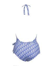 Issa - Mock Wrap Swimsuit - Lyst