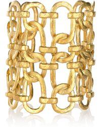 Kenneth Jay Lane 22karat Goldplated Linked Chain Cuff - Lyst