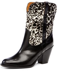 Michael Kors Western Boot with Calf Hair - Lyst