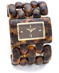 Michael Kors Rio Tortoise shell Watch - Lyst