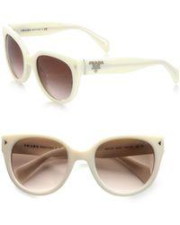 Prada Round Catseye Acetate Sunglasses - Lyst