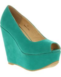 Office Witch Craft Wedge Turq Microsuede - Lyst
