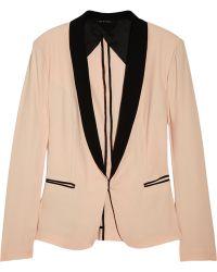 Rag & Bone Silver Tuxedo Cotton Blend Blazer pink - Lyst