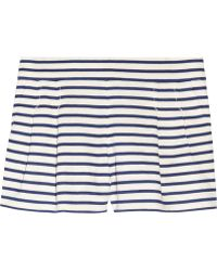 J.Crew Dapper Striped Linenblend Shorts black - Lyst